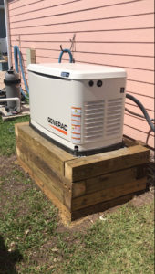 New Installation of a Generac home standby generator